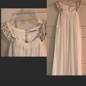 Calvin Klein, white dress
